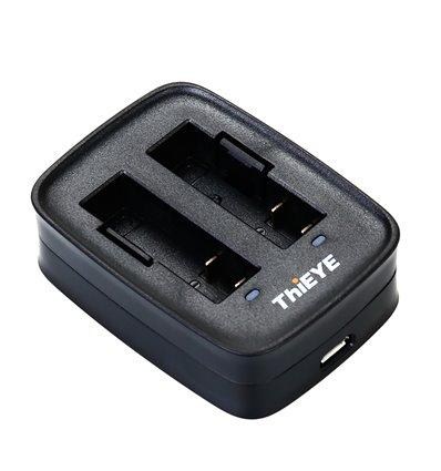 ThiEYE polnilec baterije (dvojni) za 1100 mAh baterijo