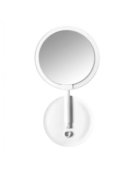 Amiro Mini Portable High Definition Sunlight Makeup Suit Mirror White