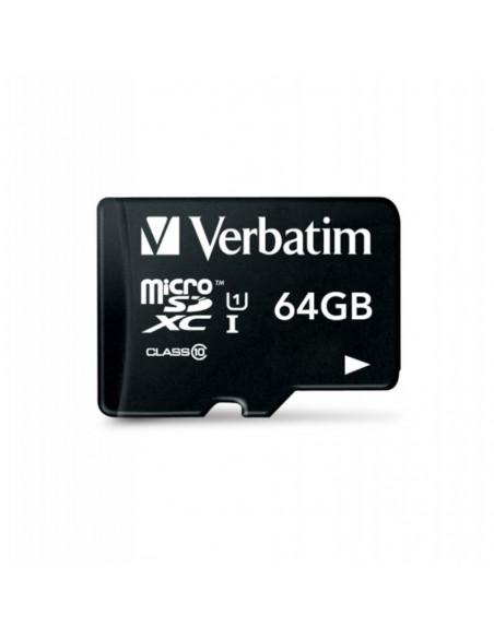 Verbatim MicroSD 64 GB UHS-I V10 U1 Class 10 Memory Card with Adapter