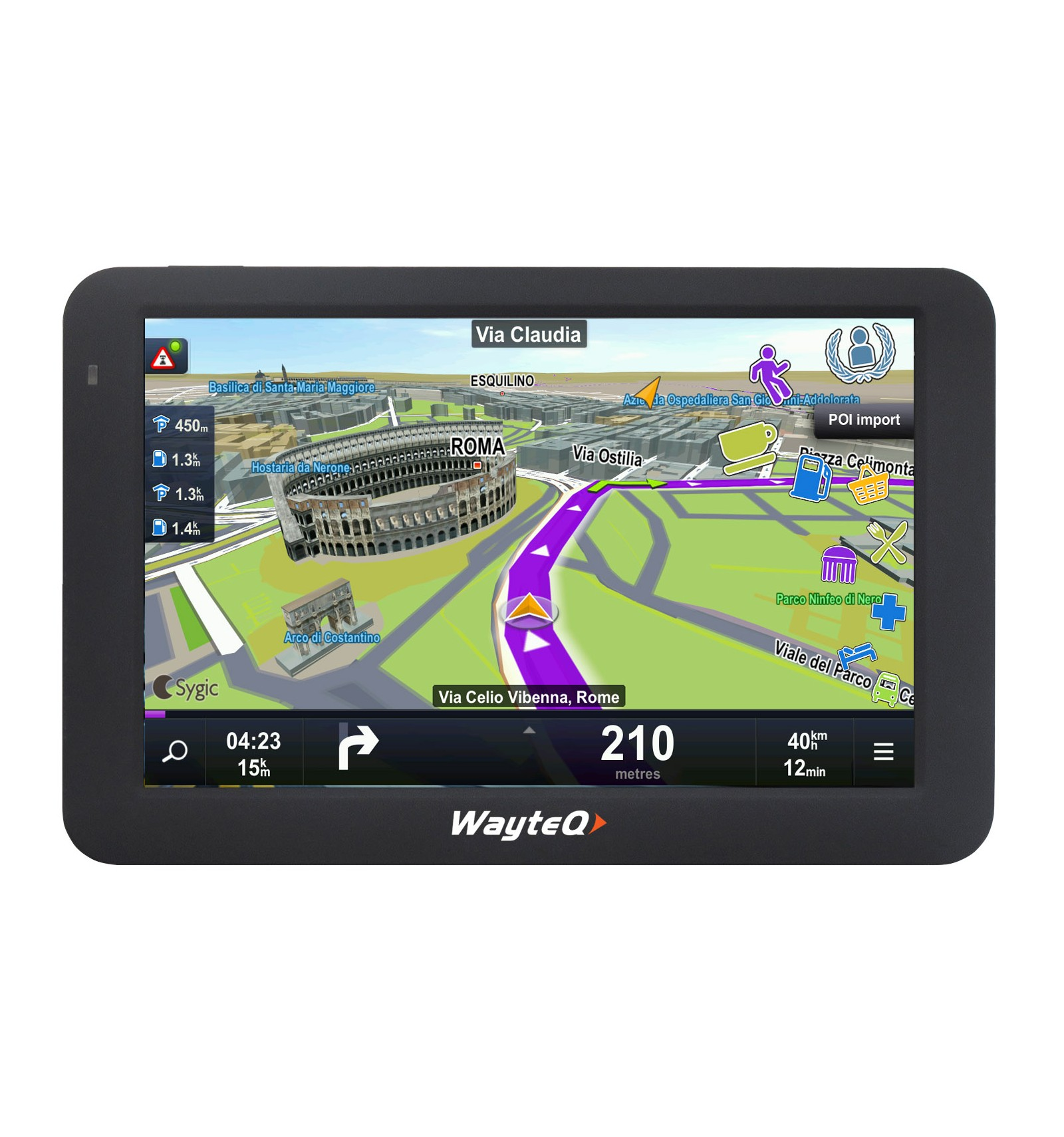 wayteq x985bt sygic 3d navigation device. Black Bedroom Furniture Sets. Home Design Ideas